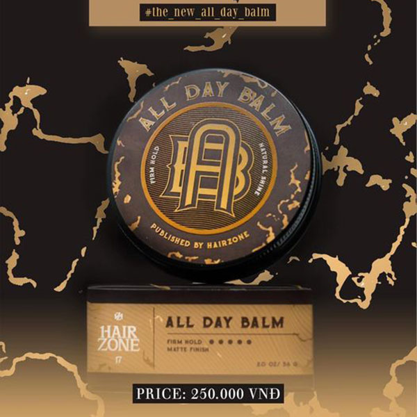 Sáp vuốt tóc Hairzone All day Balm 2020